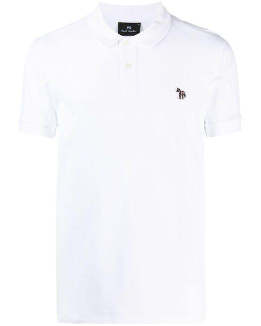 Polo con detalle del logo Paul Smith de hombre de color White