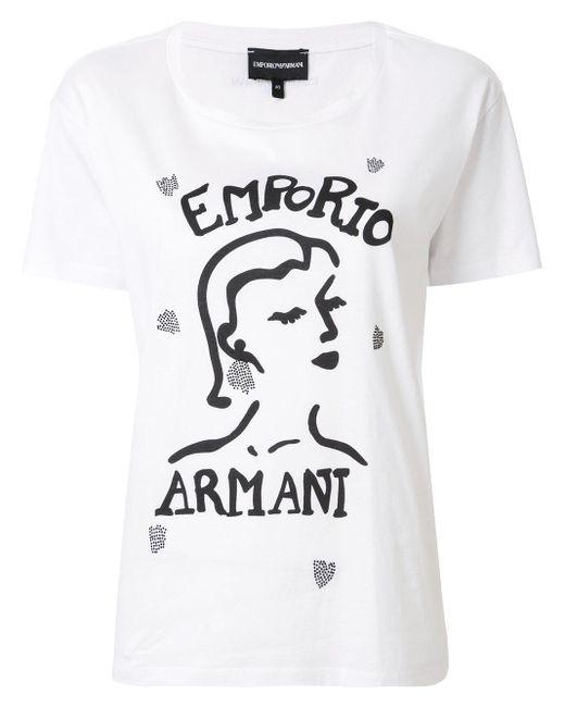 Emporio Armani プリント Tシャツ White