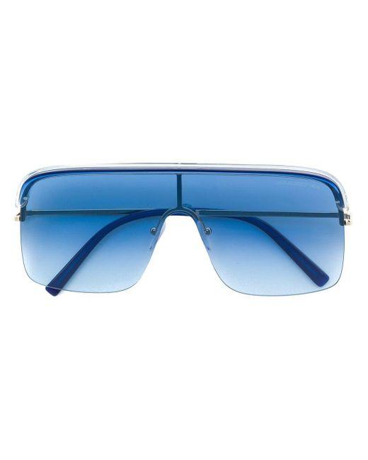 Cutler & Gross オーバーサイズ サングラス Blue
