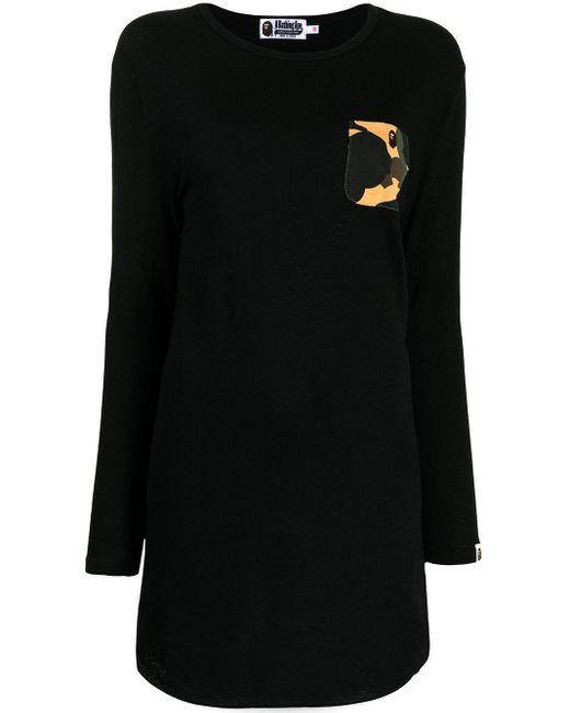 Abito modello maglione con motivo camouflage di A Bathing Ape in Black