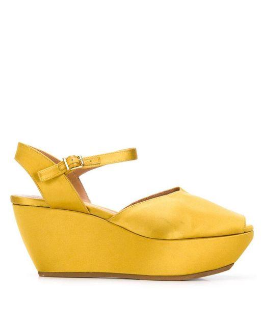Marni ウェッジサンダル Yellow