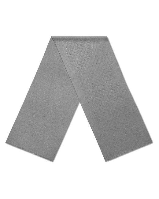 GG jacquard cashmere scarf Gucci pour homme en coloris Brown