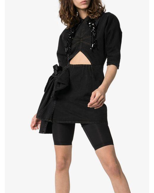 Miu Miu Black Minikleid aus Denim