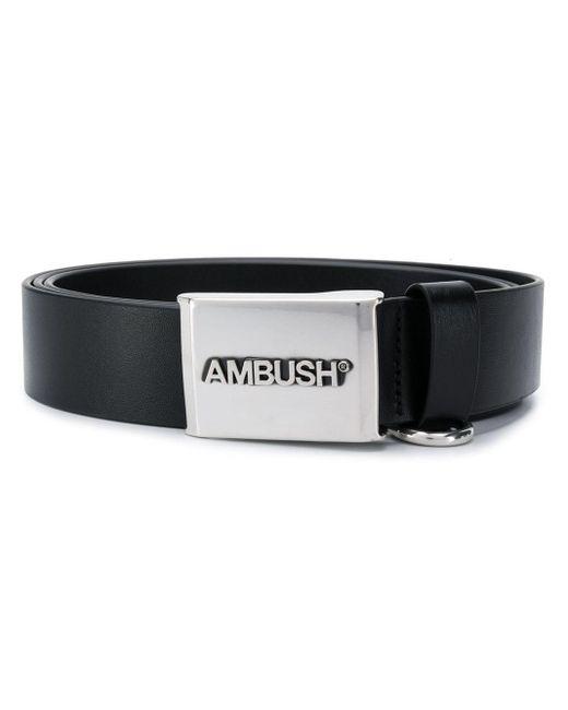 Ambush ロゴバックル ベルト Black