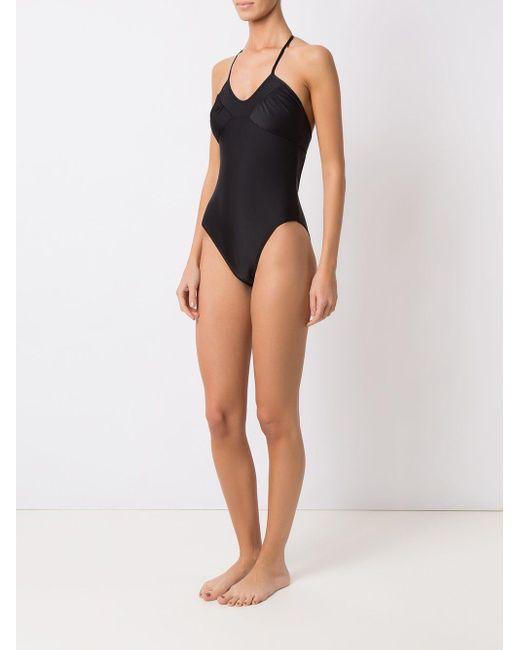 Gathered Details Swimsuit Amir Slama, цвет: Black