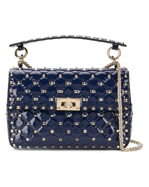 Valentino Blue Garavani Rockstud Spike Chain Bag