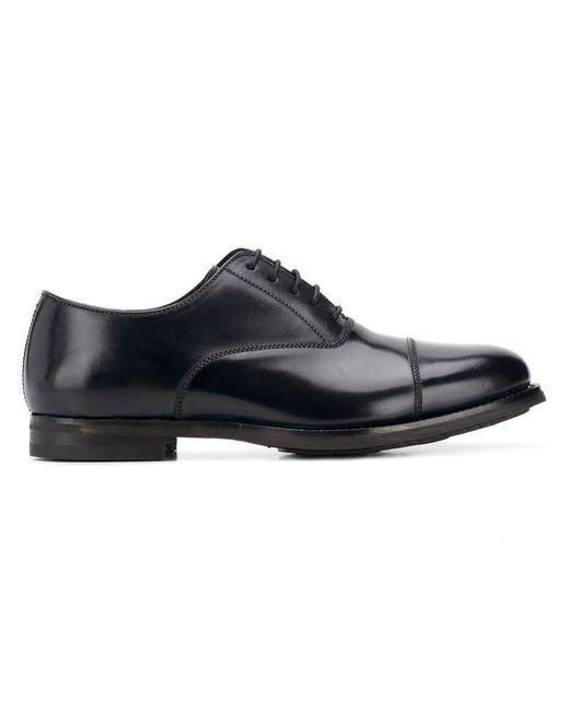 Fefe - Blue Oxford-Schuhe aus Leder for Men - Lyst