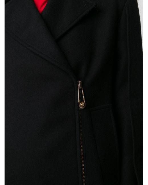 Пиджак На Молнии С Декоративной Булавкой Versace, цвет: Black