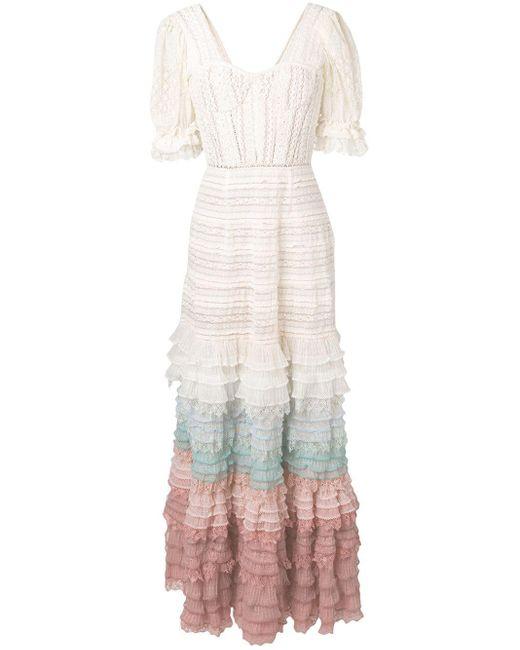 Jonathan Simkhai フリル ニットドレス White