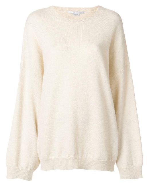 Stella McCartney - White One Shoulder Sweater - Lyst