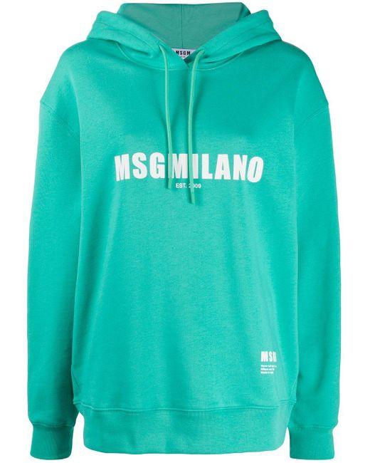 Худи С Логотипом MSGM, цвет: Green