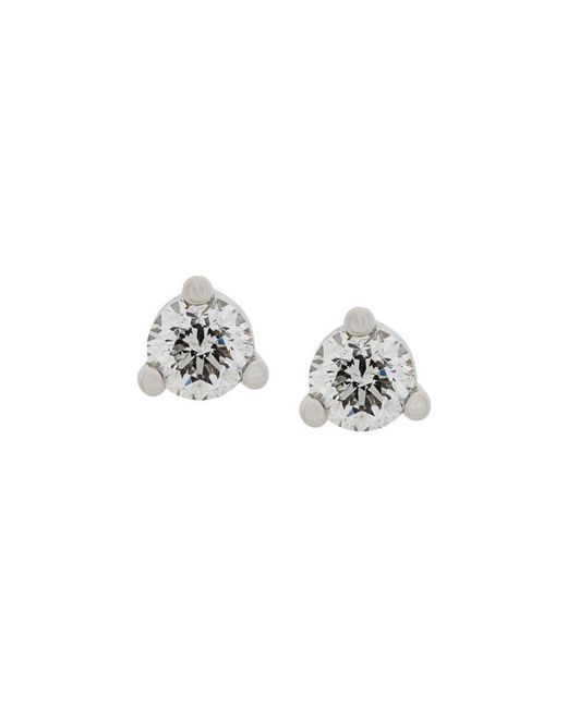 Delfina Delettrez - Metallic 18kt White Gold Dots Solitaire Diamond Earrings - Lyst
