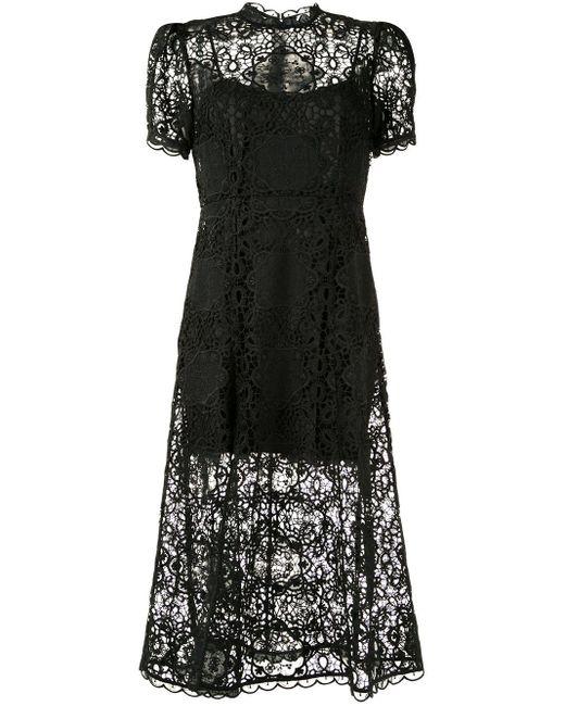 Alice McCALL フローラルレース ドレス Black