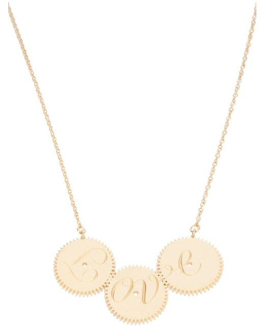 Clarice Price Thomas | Metallic Engraved Love Necklace | Lyst