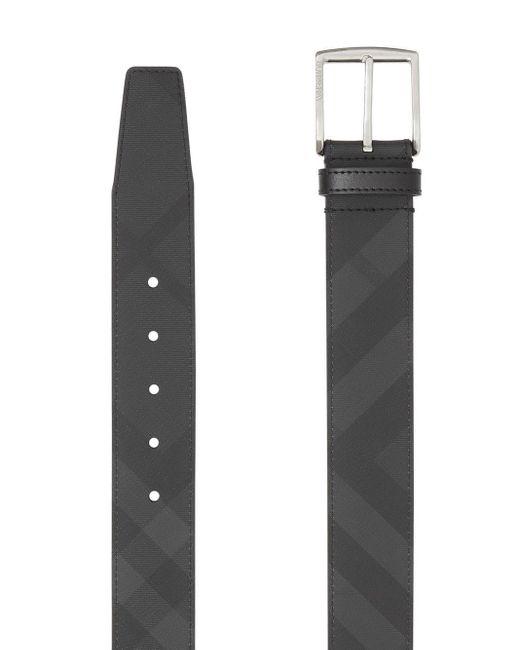 Cinturón con London Check Burberry de hombre de color Gray
