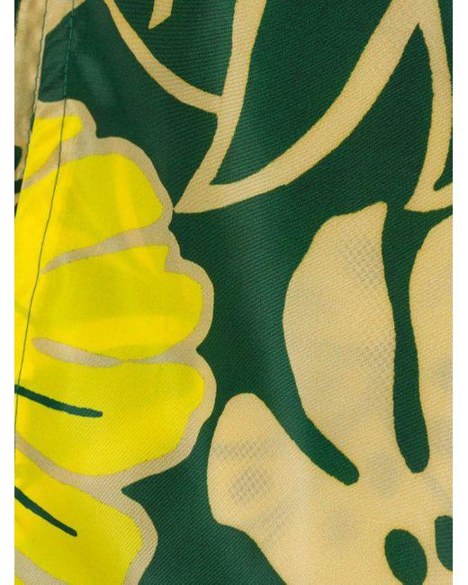 メンズ Moncler フローラル トランクス水着 Yellow