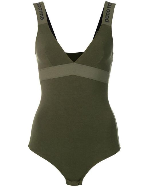 Paco Rabanne - Green Fitted Bodysuit - Lyst