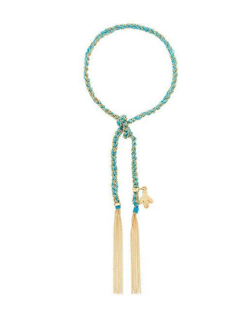 Carolina Bucci - Blue 18kt Gold Lucky Sprezzatura Bracelet - Lyst