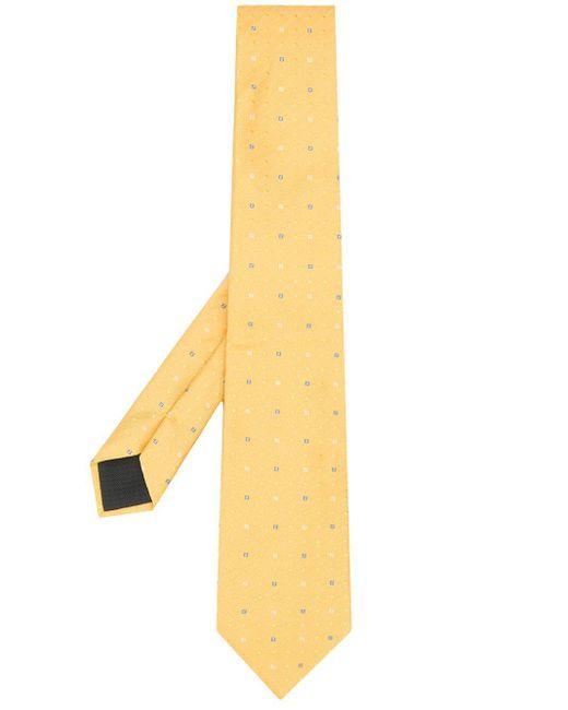 メンズ Fendi モノグラム ジャカード ネクタイ Yellow