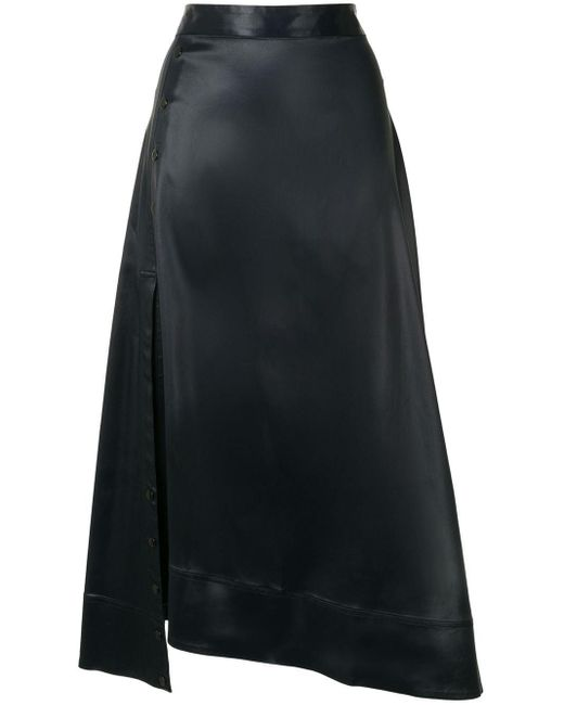 3.1 Phillip Lim Blue Asymmetric Draped Skirt