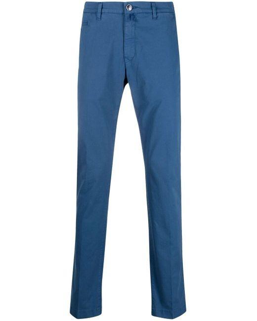 メンズ Jacob Cohen スリムフィット チノパンツ Blue