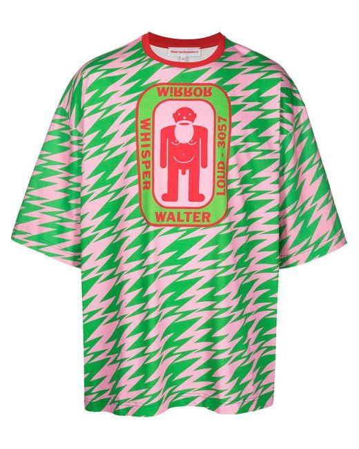 メンズ Walter Van Beirendonck Walter オーバーサイズ Tシャツ Green