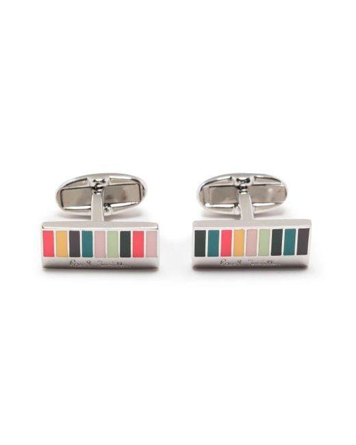 Полосатые Запонки В Стиле Колор-блок Paul Smith для него, цвет: Metallic