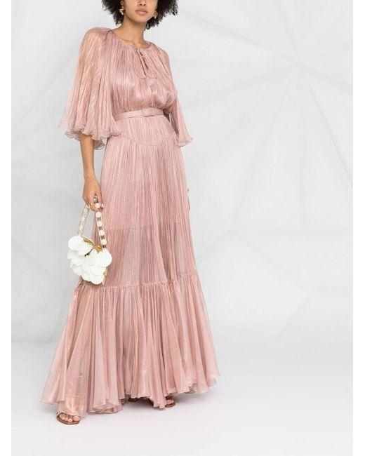 Maria Lucia Hohan プリーツ イブニングドレス Pink