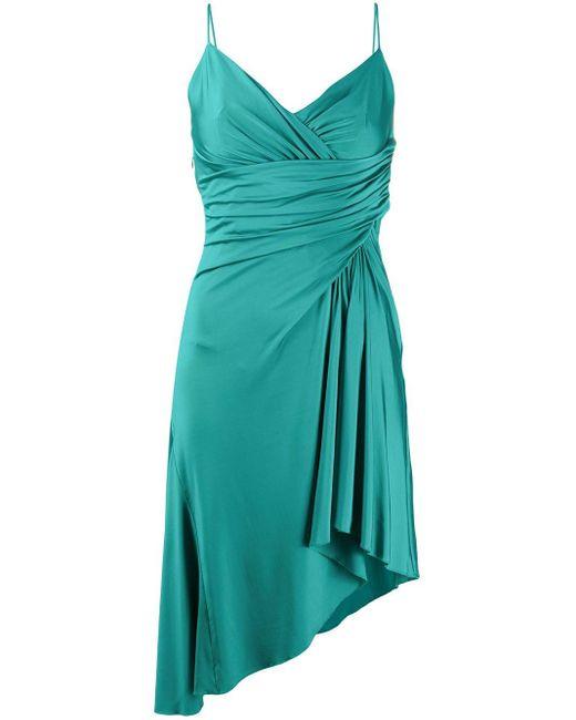 Vestido drapeado asimétrico Alexandre Vauthier de color Green