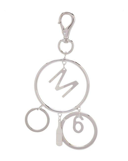 MM6 by Maison Martin Margiela ロゴチャーム キーホルダー Metallic