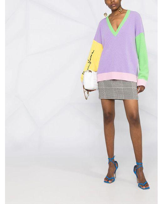 Джемпер Со Вставками Versace, цвет: Purple