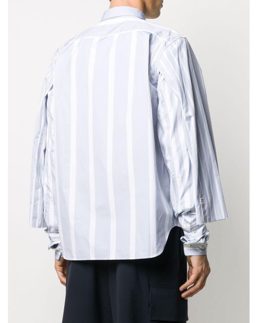 メンズ Comme des Garçons レイヤードスリーブ シャツ Gray