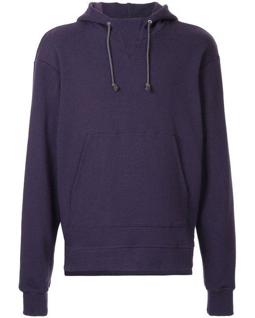 John Elliott - Purple Hooded Kangaroo Jumper for Men - Lyst