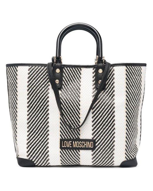 Love Moschino Multicolor Woven Stripe Tote Bag