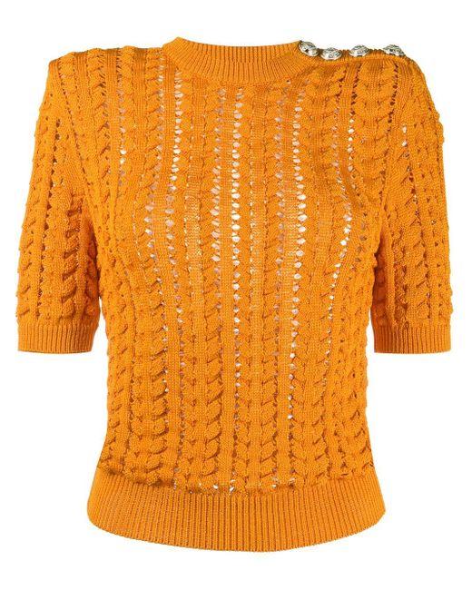 Balmain ショートスリーブ セーター Orange