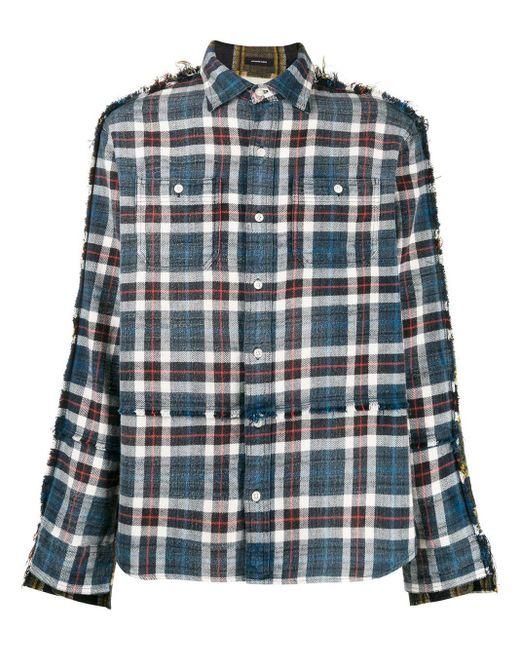 R13 ダメージ チェックシャツ Multicolor