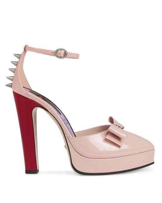 Gucci リボン ストラップ サンダル Pink
