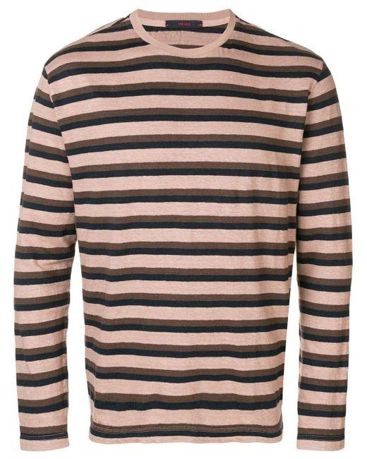 The Gigi Striped Knit Sweater in het Pink voor heren