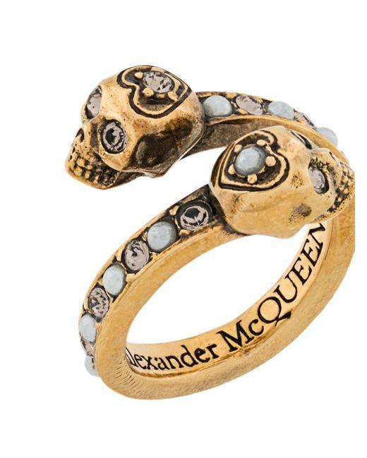 Alexander McQueen スカル リング Metallic