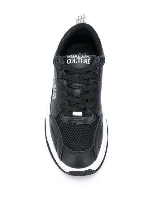 メンズ Versace Jeans チャンキーソール スニーカー Black