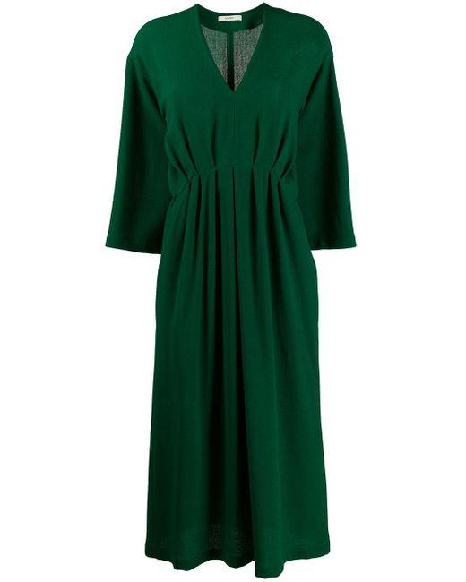 ODEEH Vネック ドレス Green