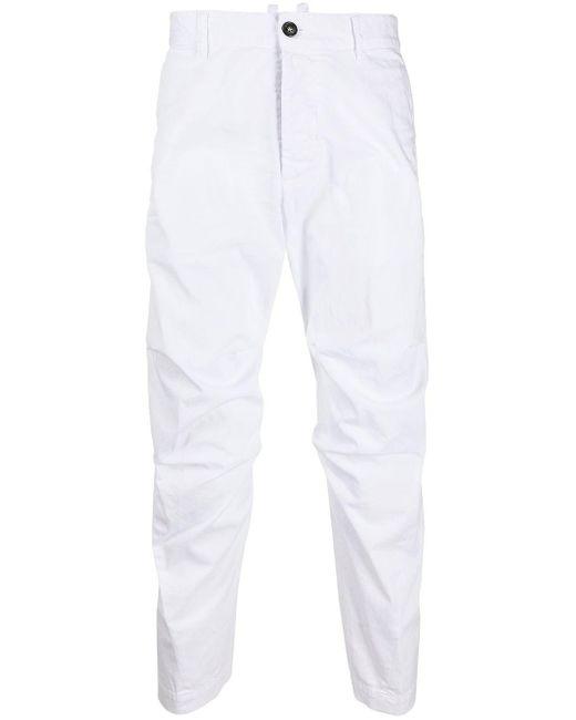 メンズ DSquared² テーパードパンツ White
