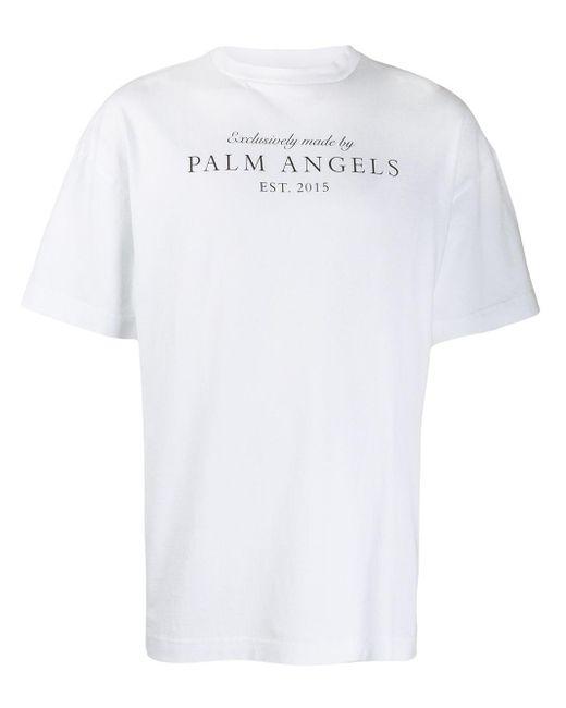 メンズ Palm Angels クルーネック Tシャツ White