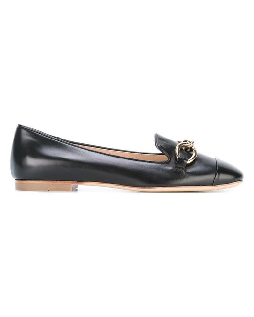 Tod's - Black Gold-tone Chain Detail Slippers - Lyst