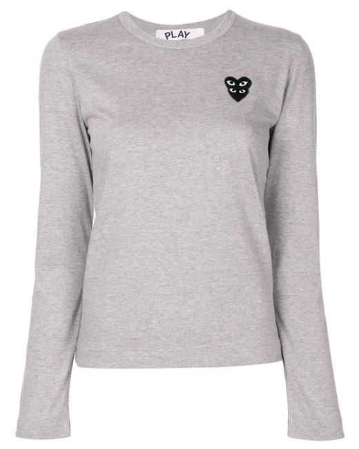 COMME DES GARÇONS PLAY ロゴパッチ Tシャツ Gray