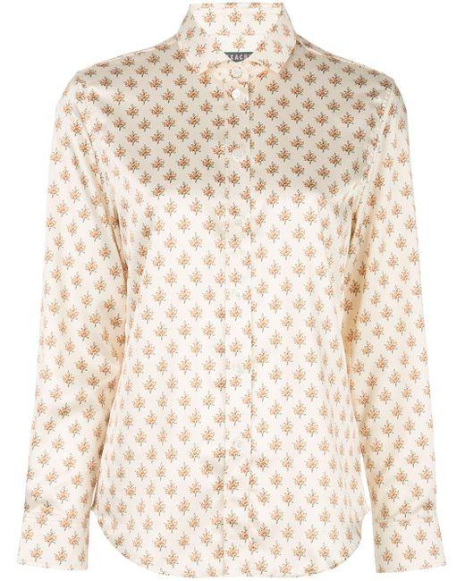 ALEXACHUNG Camisa con motivo floral de mujer de color blanco
