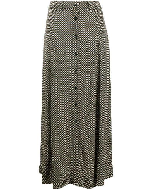 Ganni チェック ボタン スカート Multicolor