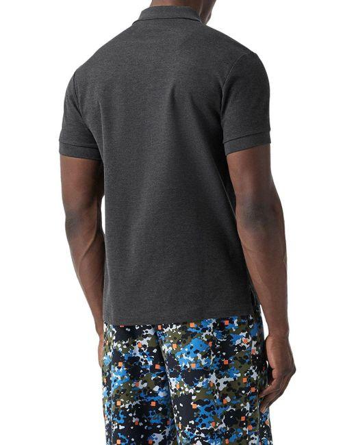 メンズ Burberry モノグラム ポロシャツ Gray
