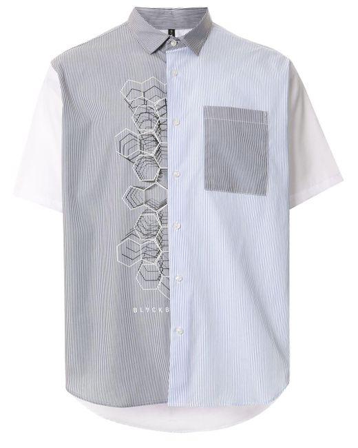 メンズ Neil Barrett パネルシャツ White