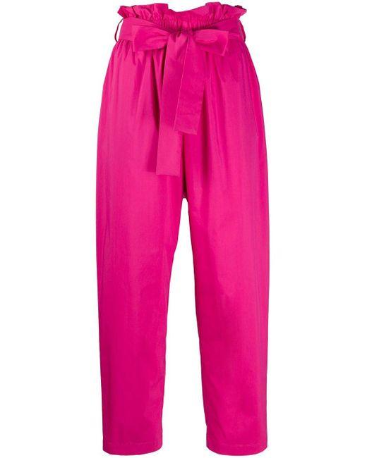 MSGM クロップドパンツ Pink